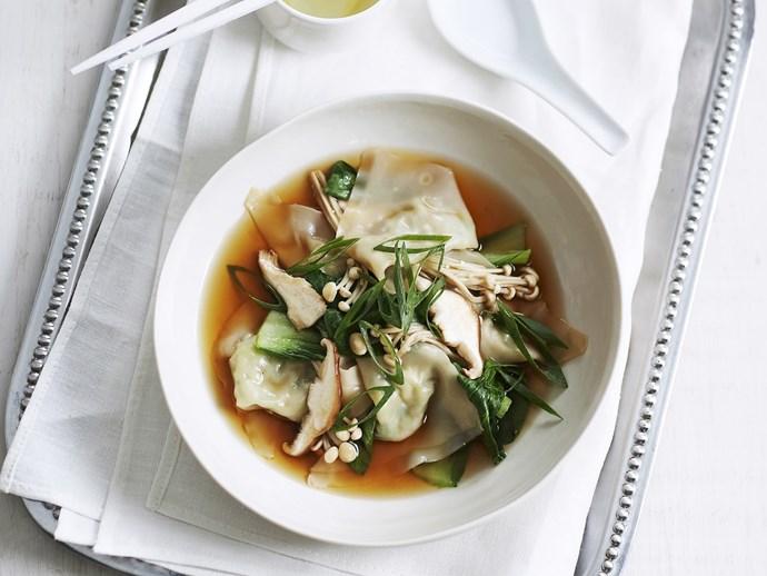 vegetable dumplings in broth