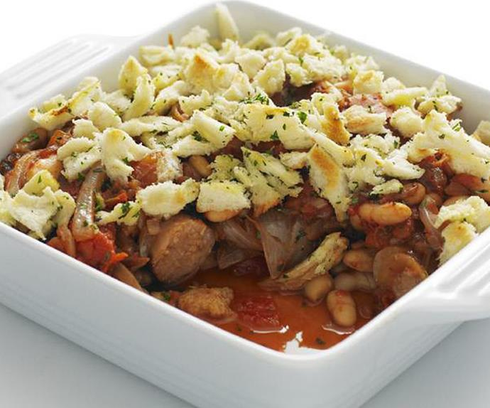 sausage and cannellinibean bake