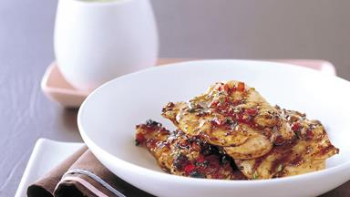 Portugese-style chicken thighs