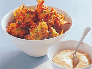 chorizo and potato fritters