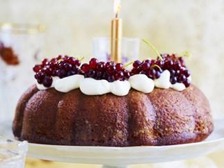 honey muscat cake with orange syrup