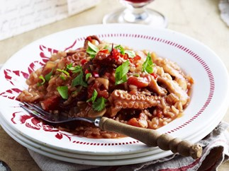 octopus with chilli rice