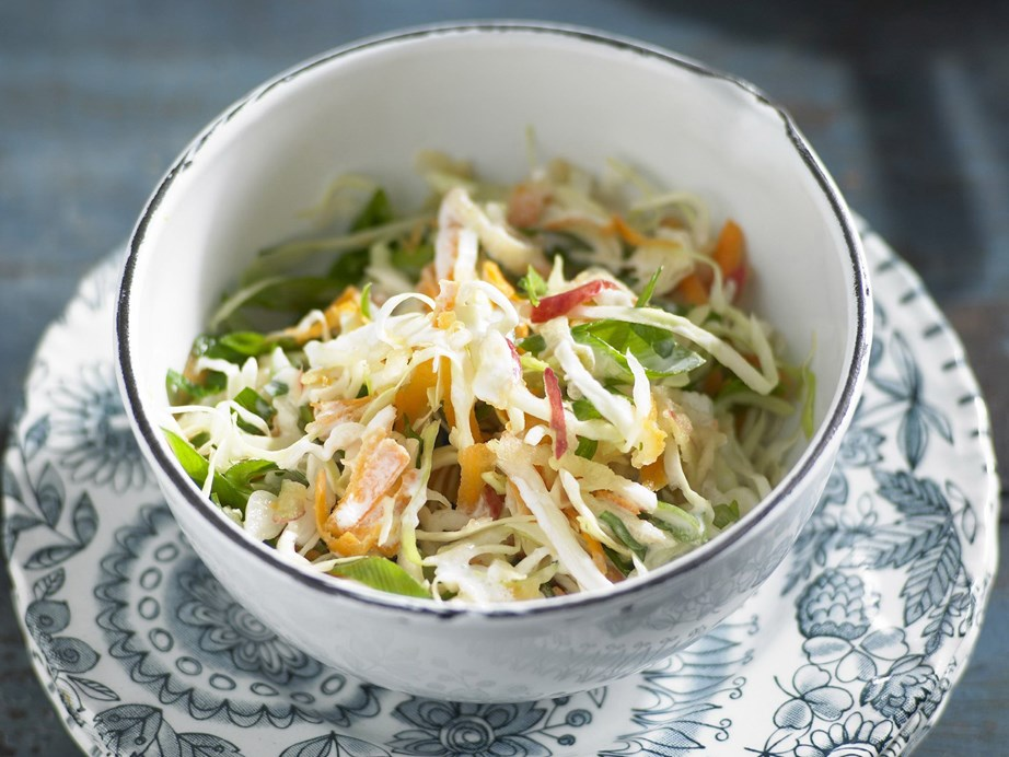 "The [tangy buttermilk dressing](https://www.womensweeklyfood.com.au/recipes/apple-slaw-with-buttermilk-dressing-12541|target=""_blank"") on this apple slaw is sure to be your new favourite."