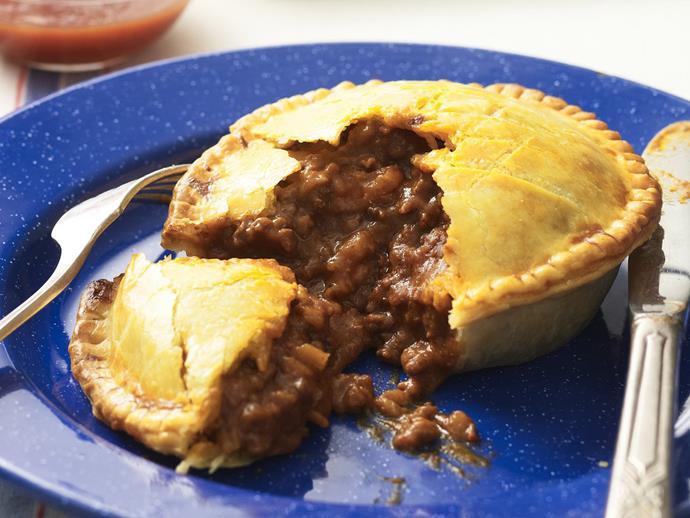 "**[Meat pies](https://www.womensweeklyfood.com.au/recipes/meat-pies-12558|target=""_blank"")**"