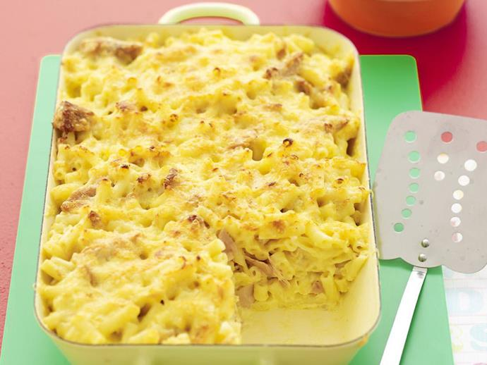 """**[Creamy tuna pasta bake](https://www.womensweeklyfood.com.au/recipes/creamy-tuna-pasta-bake-12067 target=""""_blank"""")**  One of those perfect stand-by recipes for a week-night family dinner, you can use a can of flavoured tuna, such as chilli or lemon pepper, to add interest if you like."""