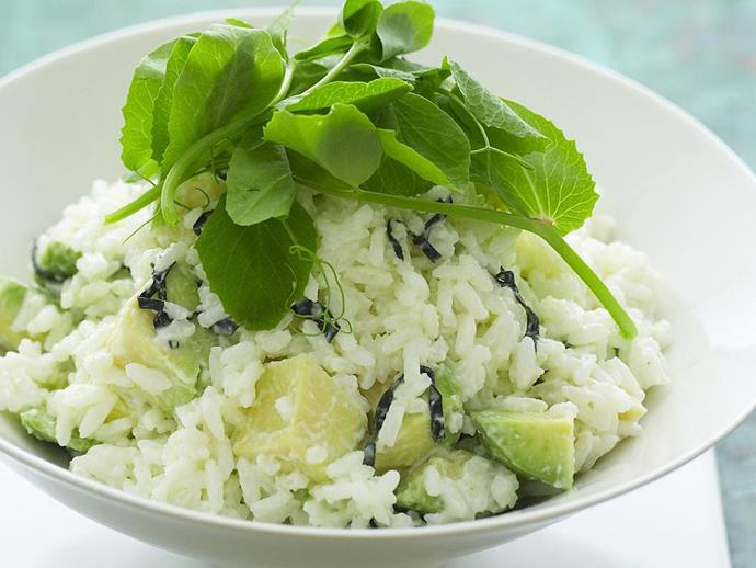 """**[Avocado and wasabi rice salad](https://www.womensweeklyfood.com.au/recipes/avocado-and-wasabi-rice-salad-12133