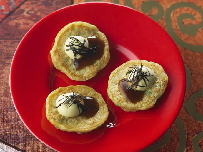 """**[Mini Japanese pancakes](https://www.womensweeklyfood.com.au/recipes/mini-japanese-pancakes-12145