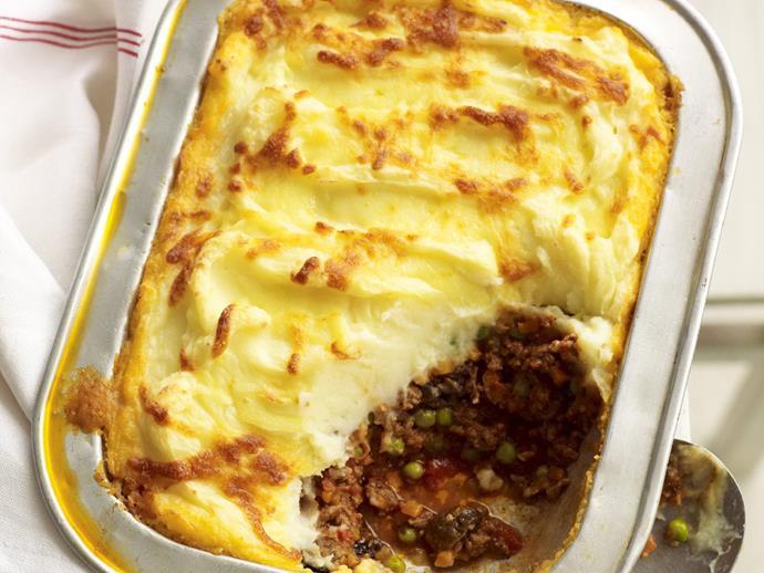 "**[Cottage pie](https://www.womensweeklyfood.com.au/recipes/cottage-pie-12215 target=""_blank"")**"