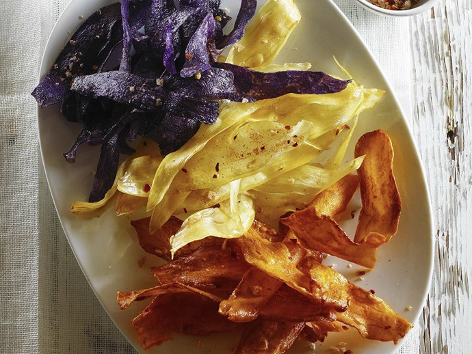 SWEET POTATO CRISPS WITH CHILLI SALT