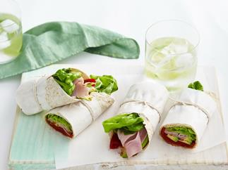 spicy ham and avocado wrap