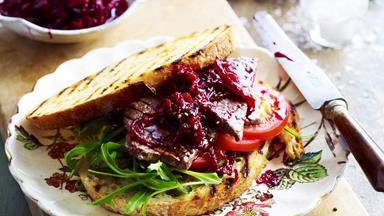 Caramelised onion and beetroot relish