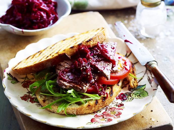 """**[Caramelised onion and beetroot relish](https://www.womensweeklyfood.com.au/recipes/caramelised-onion-and-beetroot-relish-12258