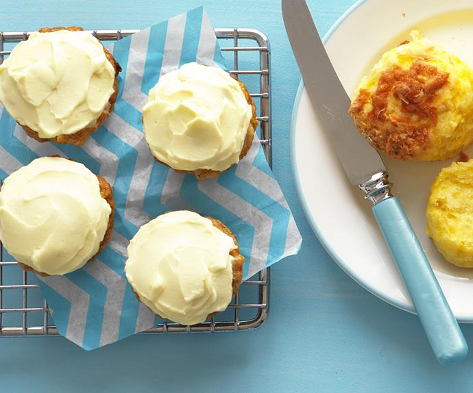 mini pineapple and carrot cakes
