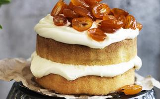 Orange pound cake WITH CANDIED CUMQUATS