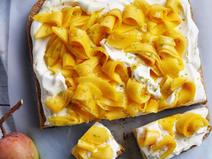 """**[Mango & coconut tres leche cake](https://www.womensweeklyfood.com.au/recipes/mango-and-coconut-tres-leche-cake-11764