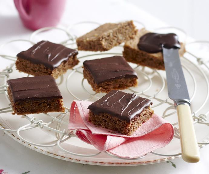 crunchy chocolate squares