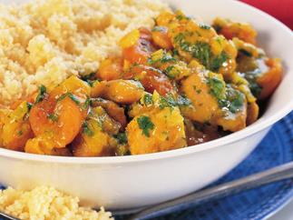 Spiced apricot and chicken tagine