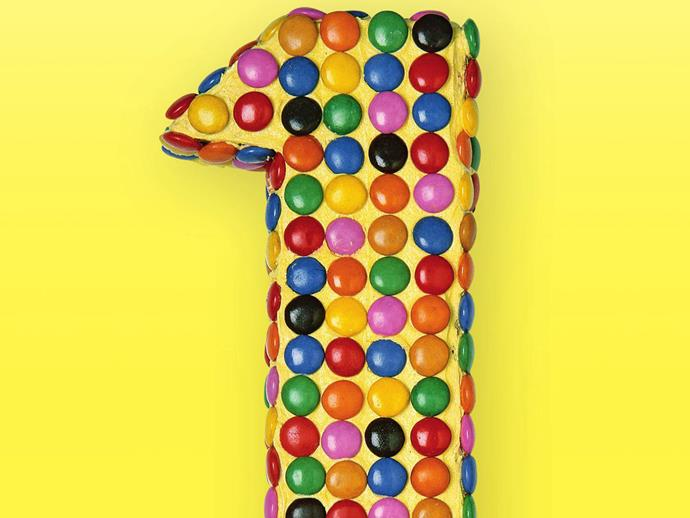 """**[Birthday cake numbers - smartie one](https://www.womensweeklyfood.com.au/recipes/smartie-one-4942