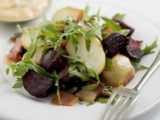 roasted beetroot & potato salad