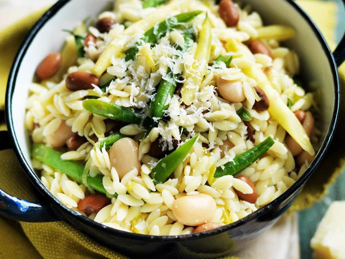 """**[Bean and leek risoni](https://www.womensweeklyfood.com.au/recipes/bean-and-leek-risoni-11881