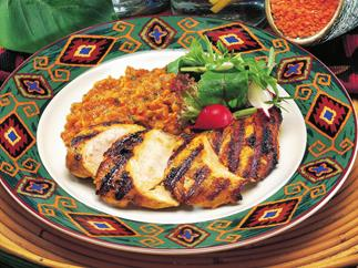 chicken with spicy lentils