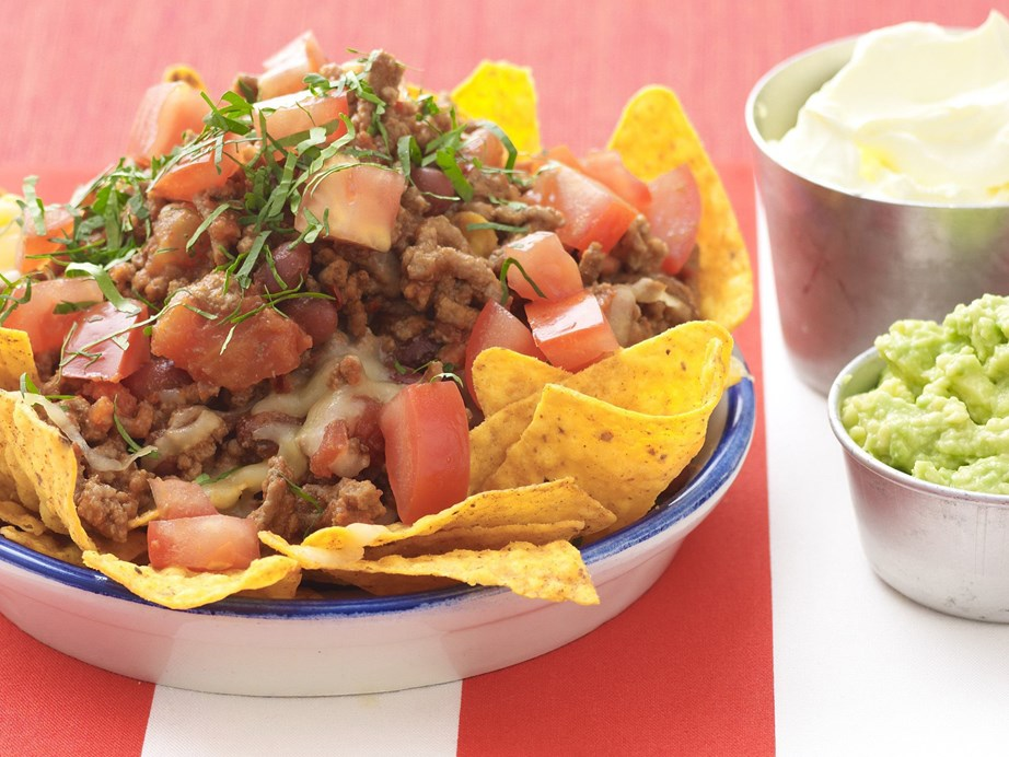"""**[Beef and bean nachos](https://www.womensweeklyfood.com.au/recipes/beef-and-bean-nachos-11902