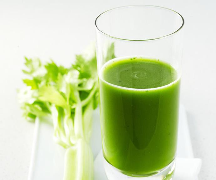 celery, spinach and grape juice