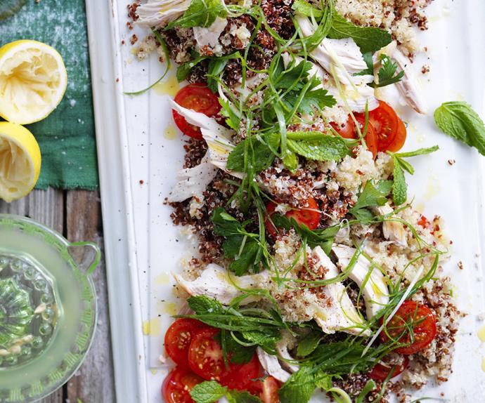 quinoa, chicken &parsley salad