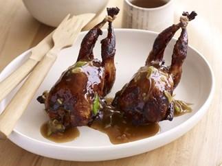 Sake marinated quail