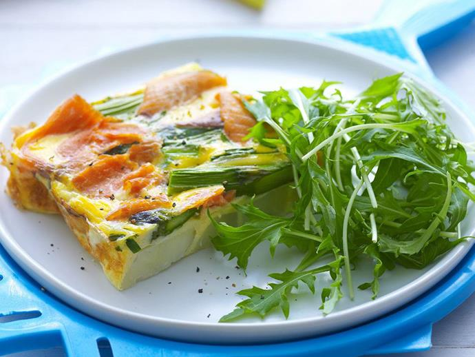 """**[Smoked trout frittata](https://www.womensweeklyfood.com.au/recipes/smoked-trout-frittata-11971