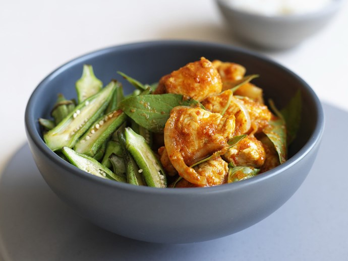 chicken and okra