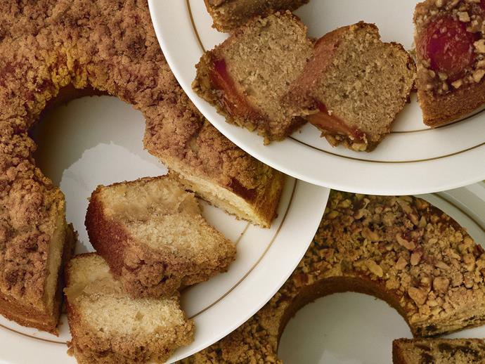 """**[Butterscotch raisin cake](https://www.womensweeklyfood.com.au/recipes/butterscotch-raisin-cake-11985 target=""""_blank"""")**  Put the kettle on and indulge in a thick slice of this crumble-topped raisin cake."""