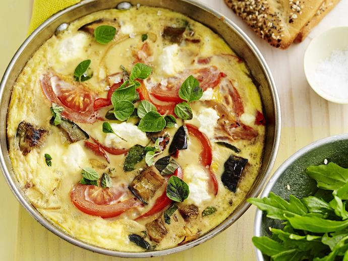 "**[Ratatouille frittata](https://www.womensweeklyfood.com.au/recipes/ratatouille-frittata-4801|target=""_blank"")**"