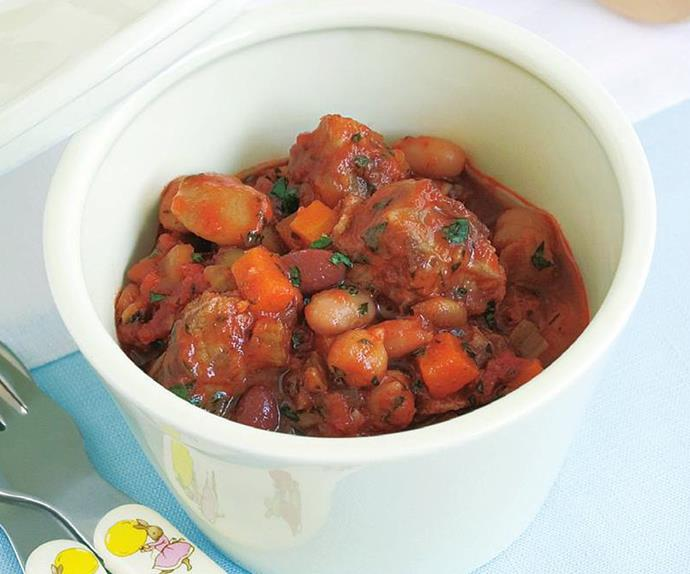 easy lamb and bean casserole