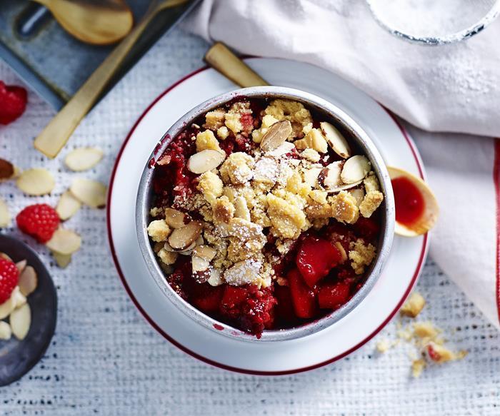 Sweet fruit crumble recipes