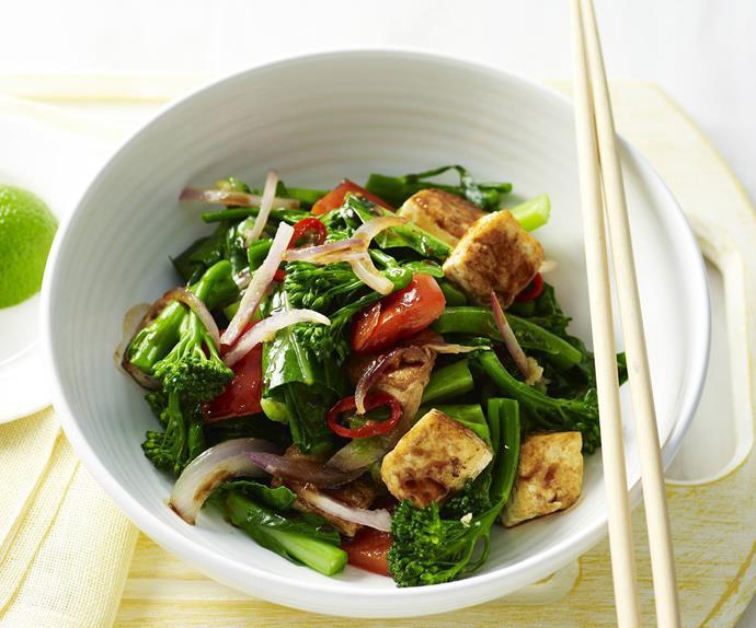 chilli tofu stir-fry