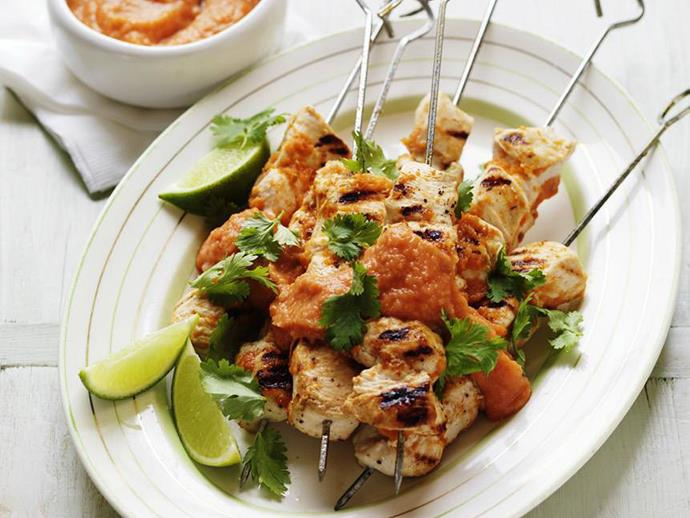 "**[Tomato and chipotle chilli chicken kebabs](https://www.womensweeklyfood.com.au/recipes/tomato-and-chipotle-chilli-chicken-kebabs-11546|target=""_blank"")**"