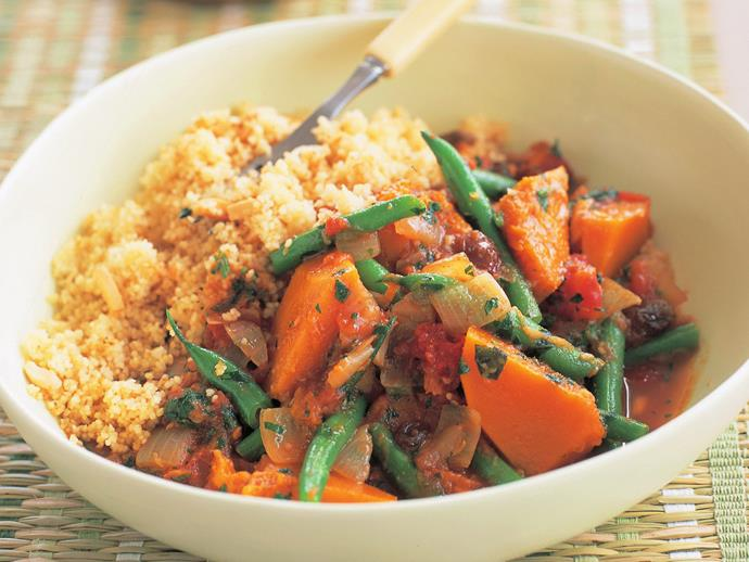 "**[Vegetable tagine](https://www.womensweeklyfood.com.au/recipes/vegetable-tagine-11603|target=""_blank"")**"