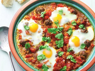meatball tagine with eggs