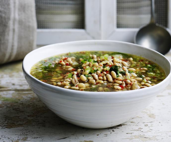 ginger soy bean soup