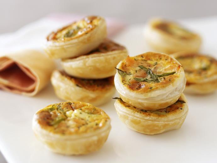 "These divine little [smoked salmon tartlets](https://www.womensweeklyfood.com.au/recipes/creamy-smoked-salmon-tartlets-11613|target=""_blank"") will be snapped up by guests at your next party."