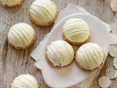 White chocolate and passionfruit marshmallow biscuits