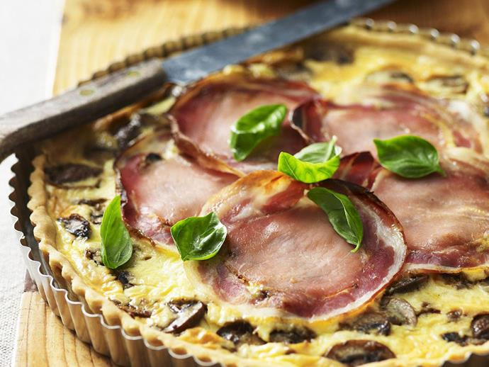 "**[Mushroom and pancetta quiche](https://www.womensweeklyfood.com.au/recipes/mushroom-and-pancetta-quiche-4876|target=""_blank"")**"