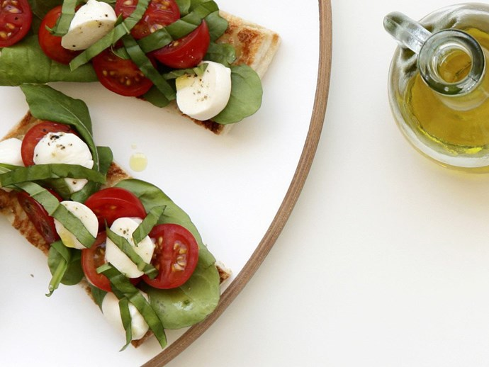 "This fusion of a [caprese salad and classic bruschetta](http://www.foodtolove.com.au/recipes/bruschetta-caprese-22360|target=""_blank"") is a delightful way to enjoy tender mozzarella."
