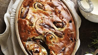 Mustardy toad in the hole