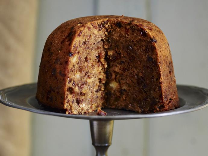 "**[Steamed plum pudding](https://www.womensweeklyfood.com.au/recipes/steamed-plum-pudding-4682|target=""_blank"")**"