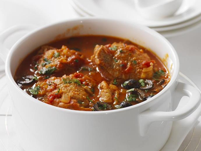 """**[Chicken cacciatore](https://www.womensweeklyfood.com.au/recipes/chicken-cacciatore-11272