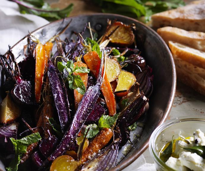 beetroot & HEIRLOOM carrot  salad witH persian FETTA