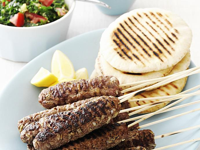 """[Lamb kofta platter](https://www.womensweeklyfood.com.au/recipes/lamb-kofta-platter-15008