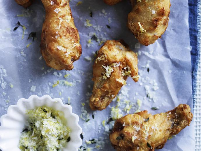 "**[Fried buttermilk and mustard chicken wings](https://www.womensweeklyfood.com.au/recipes/fried-buttermilk-and-mustard-chicken-wings-11437|target=""_blank"")**"